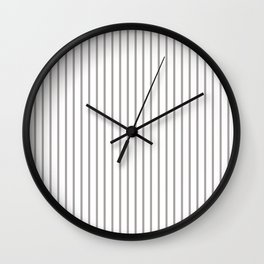 Silver Thistle Pinstripe on White Wall Clock
