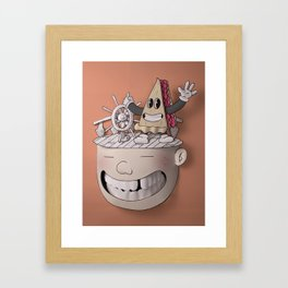 Pie Brains Framed Art Print