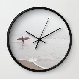 Contemplating Waves Wall Clock
