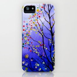 sparkling winter night sky iPhone Case