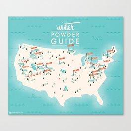 Winter Powder Guide Canvas Print