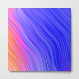 stripes wave pattern 1 mv Metal Print