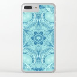 Bubbling to the surface in baby blue Clear iPhone Case