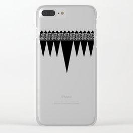 Weave Design Clear iPhone Case