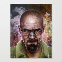 heisenberg Canvas Prints featuring Heisenberg by Isabella Morawetz