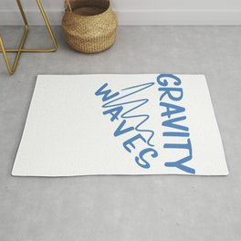 Funny & Awesome Gravity Tshirt Design Gravity Waves Rug