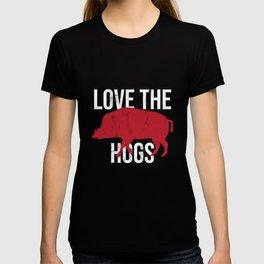 Heart The Hogs Graphic Novelty Love The Razorback TShirts T-shirt