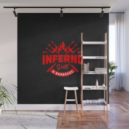 Inferno Grill and Kitchen Wall Mural
