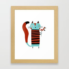 STRIPED SHIRT Framed Art Print