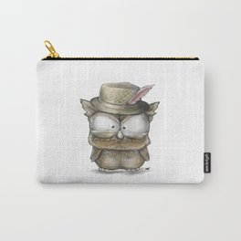I'll show you a Hoot! - Angry Owl Illustration - Kawaii Carry-All Pouch