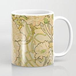 Alphonse Mucha - Peonies Coffee Mug