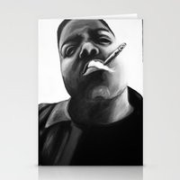 biggie smalls Stationery Cards featuring Biggie Smalls by Lucy Ford