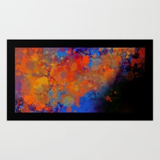 Blue Invasion  Art Print