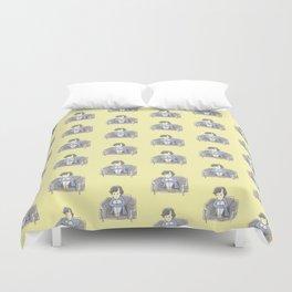 Sulky Sherlock - Yellow Duvet Cover