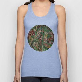 Kashmir on Wood 05 Unisex Tank Top