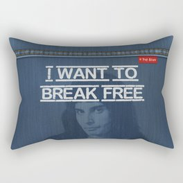 Denim Jeans - I Want To Break Free & F.Mercury Rectangular Pillow