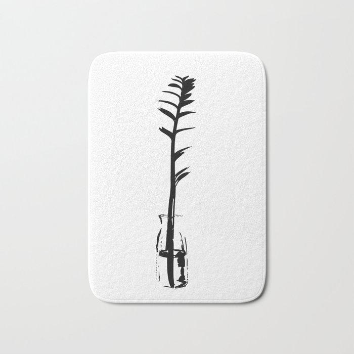 Branch in vase Bath Mat