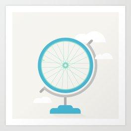 Bike Globe Art Print