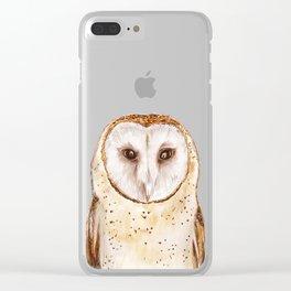 Starwatcher (Tyto alba) Clear iPhone Case