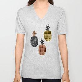 Pineapples Art Print Unisex V-Neck