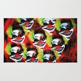 Halloween Horrorclown Collage Rug