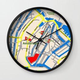 Amsterdam Map design Wall Clock