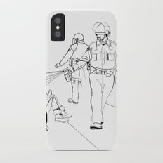 Pepper Spray(Illustration for Police Brutality Coloring Book) Slim Case iPhone X