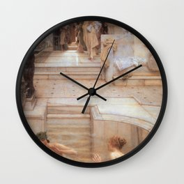 A Favourite Custom 1909 by Sir Lawrence Alma Tadema | Reproduction Wall Clock