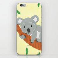 koala iPhone & iPod Skins featuring Koala by Claire Lordon