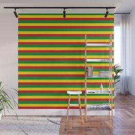 colorful rasta stripe pattern design Wall Mural