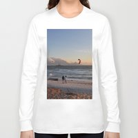 south africa Long Sleeve T-shirts featuring Sunset Beach - South Africa by The 3rd Eye