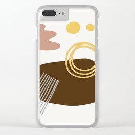 Desert Swimming Abstract Clear iPhone Case