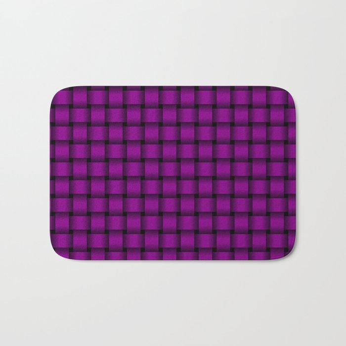 Small Purple Violet Weave Bath Mat