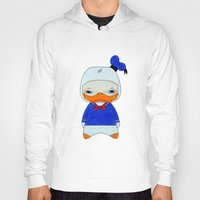 donald duck Hoodies featuring A Boy - Donald Duck by Christophe Chiozzi