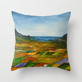 The Fields of Dingle Throw Pillow