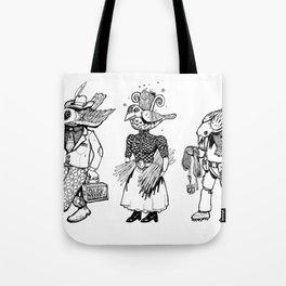 Birdheaded People Tote Bag