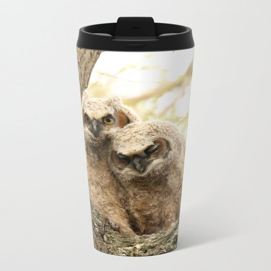 Rest your head on my shoulder Metal Travel Mug
