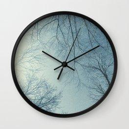 The Trees - Hazy n' Blue Wall Clock