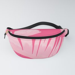 Chill Pink Tropical Banana Leaves Design Fanny Pack