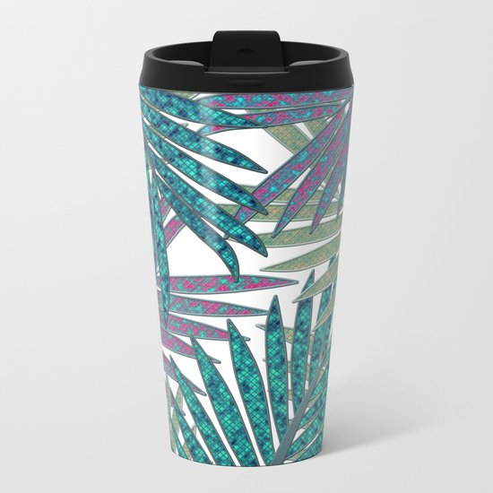 TROPICAL LEAVES GARDEN W Metal Travel Mug