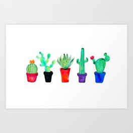 Pot Of Cacti Art Print