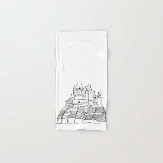 Castle on the cliff Hand & Bath Towel