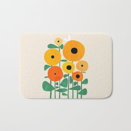 Sunflower and Bee Bath Mat