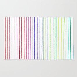 RAINBOW WATERCOLOR LINES Rug