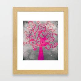 Spiral Tree Framed Art Print