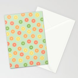 citrus fever II - citrus slices pattern Stationery Cards