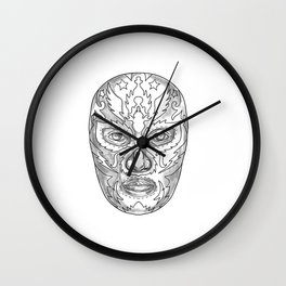 Lucha Libre Mask Tattoo Wall Clock
