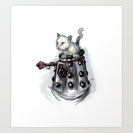 Cat Dalek Art Print