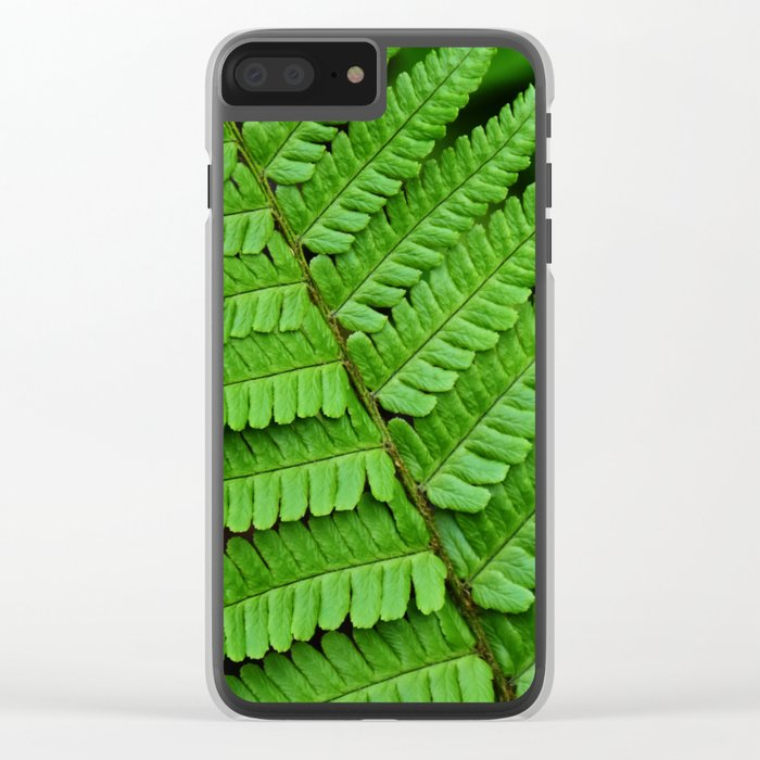 Bright Green Fern in the Forest Clear iPhone Case