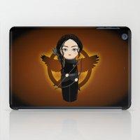 katniss iPad Cases featuring Kokeshi Katniss by Pendientera